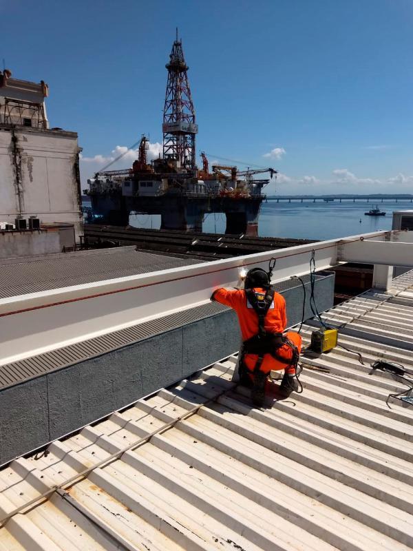 Instalação ponto de ancoragem