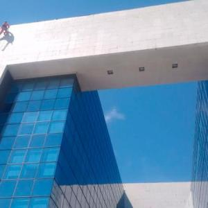 Limpeza de fachada alpinismo
